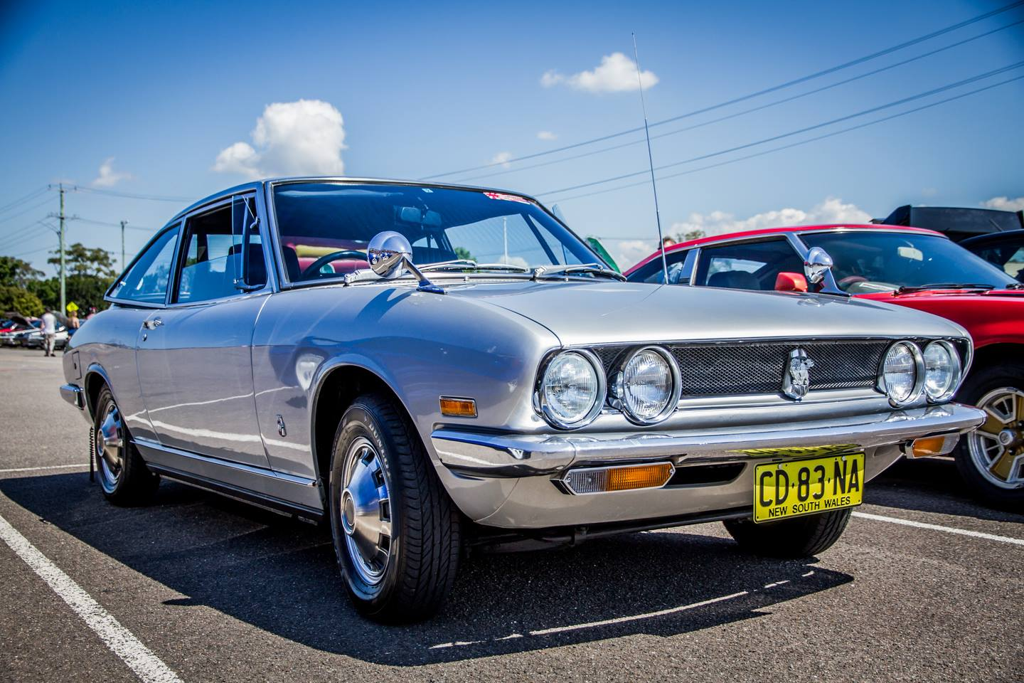 An immaculate Isuzu 117 coupe we imported to Australia that still had plastic over the door trims! Owner won a show'n'shine event on its first outing.